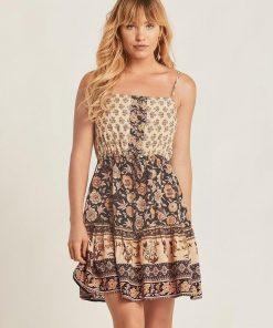 Bohemian geblümtes Kleid