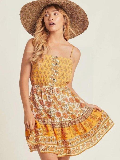 Hippie chic geblümtes Kleid
