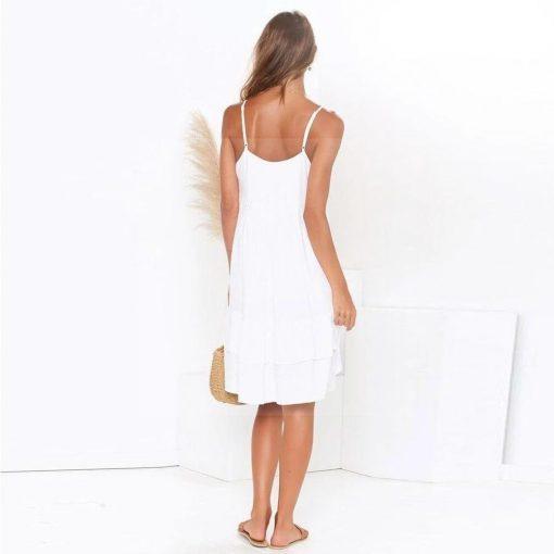 Weißes Kleid Hippie chic Stil